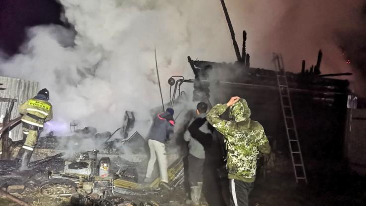 Beim Brand in einem russischen Pflegeheim sind elf Menschen ums Leben gekommen, zudem gab es mehrere Verletzte. (Foto)