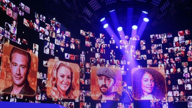 Imposantes Bühnenbild: Bei Rising Star 2014 steht eine riesige LED-Wand im Mittelpunkt des Geschehens.