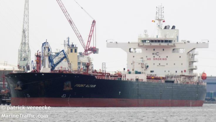 """Der norwegische Öltanker """"Front Altair"""" soll nach einem Angriff im Golf von Oman gesunken sein. (Foto)"""