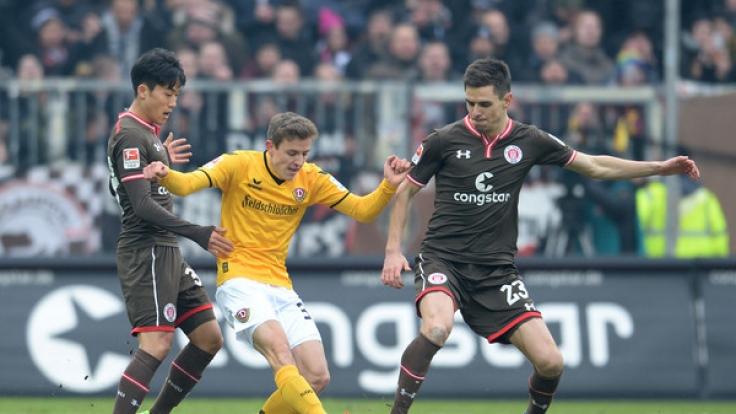 Am Montag treffen St. Pauli und Dynamo Dresden aufeinander. (Foto)