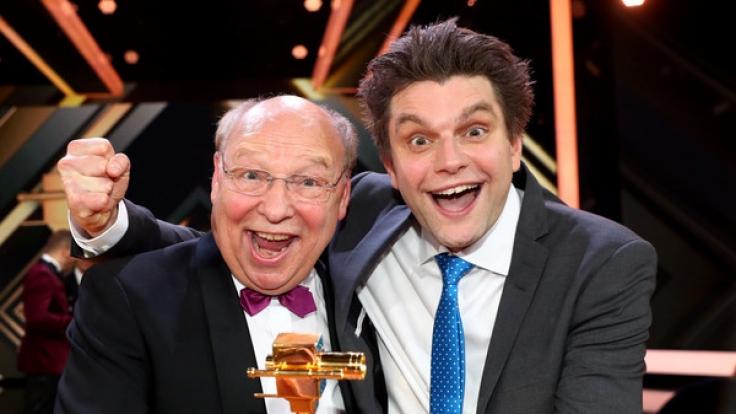 """Die Comedians Hans-Joachim Heist (l) und Lutz van der Horst gehören zur Stammbesetzung der ZDF-""""heute-show"""". (Foto)"""