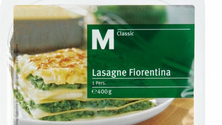 Die SchweizerHandelskette Migros ruft seine Lasagne zurück.