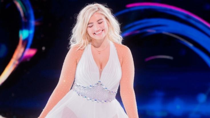 """Sarina Nowak bei einem ihrer """"Dancing on Ice""""-Auftritte. (Foto)"""