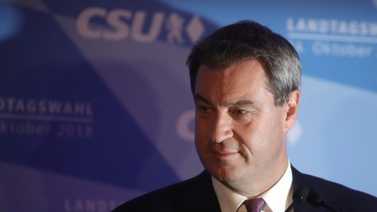 Bitterer Abend für die CSU: Markus Söder verliert in Bayern in absolute Mehrheit.