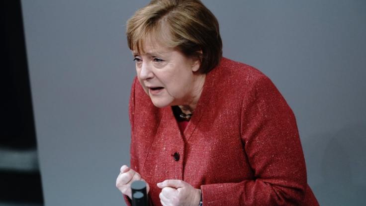 Angela Merkel plädiert für einen harten Lockdown vor Weihnachten. (Foto)