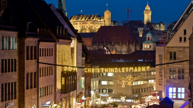 Der Christkindlesmarkt in Nürnberg zählt zu den berühmtesten Weihnachtsmärkten in Deutschland.