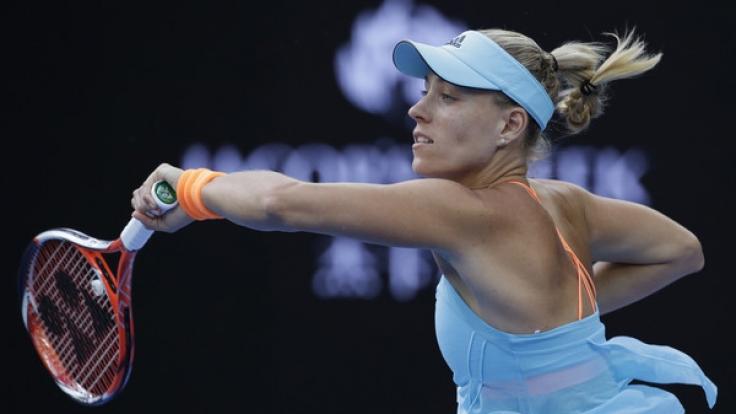 Angelique Kerber hat es bei der Australian Open 2017 in die 2. Runde geschafft.