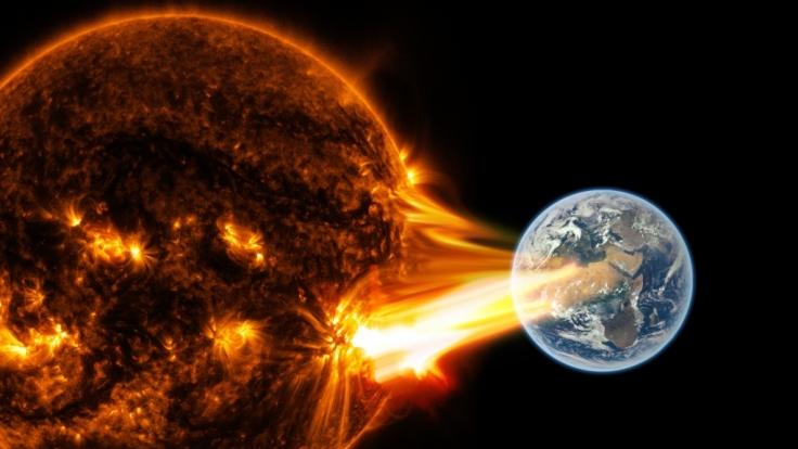 Ein heftiger Sonnenwind könnte die Menschheit außer Gefecht setzen. (Foto)
