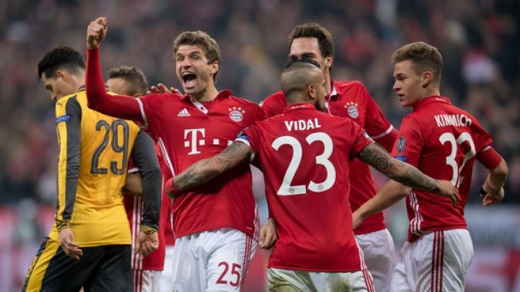 Bayern nach Torspektakel auf Viertelfinal-Kurs - 5:1 gegen Arsenal