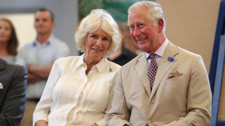 Der britische Kronprinz Charles, The Prince of Wales, mit seiner Ehefrau Camilla, Herzogin von Cornwall. (Foto)