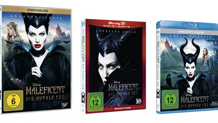 3D-Blu-ray, Blu-ray und DVD zu «Maleficent - Die dunkle Fee» sind seit dem 2. Oktober 2014 im Handel erhältlich. (Foto)