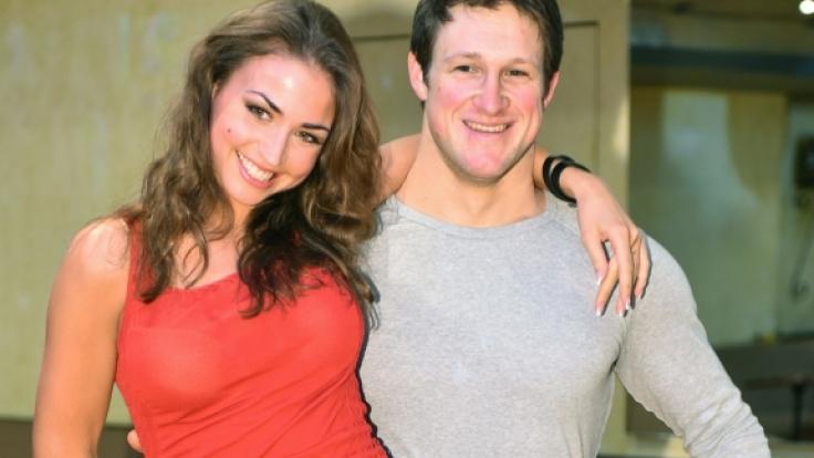 Der ehemalige Gewichtheber Matthias Steiner und die Tänzerin Ekaterina Leonova beim gemeinsamen Training für die RTL-Sendung