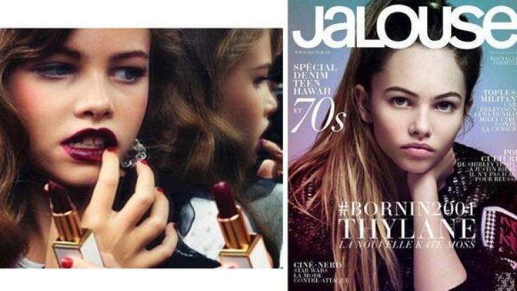 Während Thylane Blondeau für Magazincover posiert, spielen ihre Altersgenossinnen noch mit Barbiepuppen.