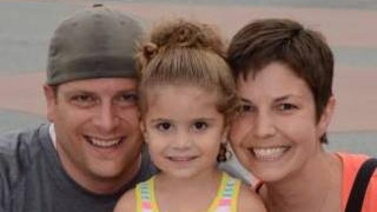 Heather mit ihrem Mann Jeff und Tochter Brianna (4). (Foto)