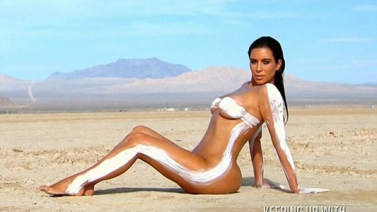Kim Kardashian zog sich mal wieder aus. (Foto)