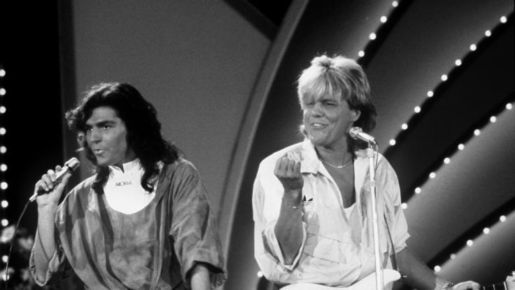Dieter Bohlen mit Thomas Anders 1985 (Foto)