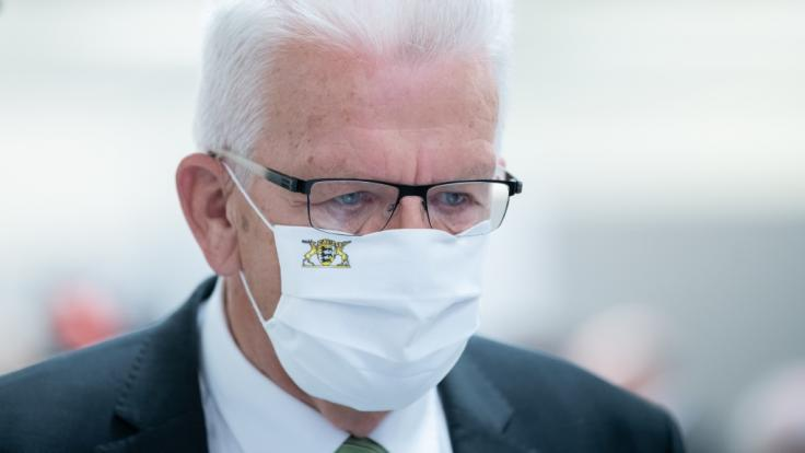 Winfried Kretschmann (Bündnis 90/Die Grünen), Ministerpräsident von Baden-Württemberg, schließ eine Verschärfung der Corona-Maßnahme nicht aus. (Foto)