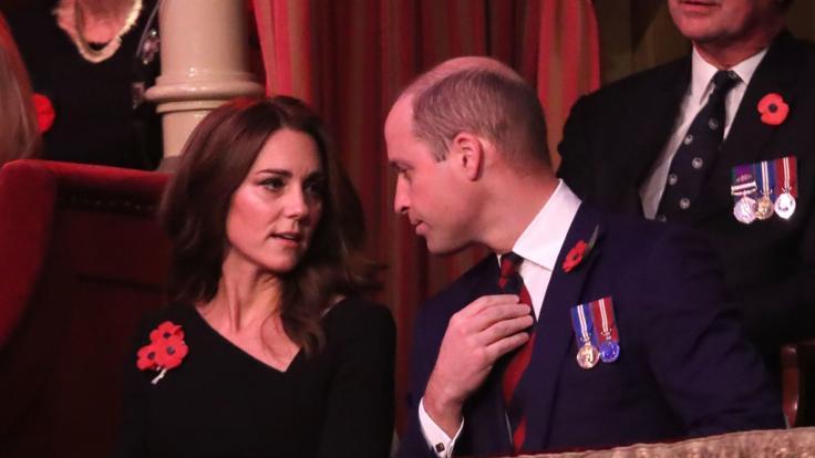 Auch zwischen Kate Middleton und Prinz William fliegen mal die Fetzen. (Foto)