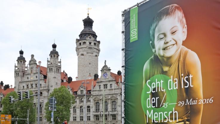 Ganz Leipzig bereitet sich auf den Katholikentag vor. (Foto)