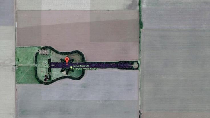 Bei Google Earth entdeckt man manchmal etwas äußerst kurioses. (Foto)