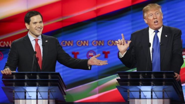 """""""Little Marco"""": Grüße scheint für Donald Trump (rechts, mit Kontrahent Marco Rubio) eine wichtige Rolle zu spielen. (Foto)"""