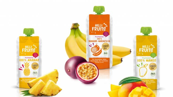 Hili Fruits gibt es in drei Sorten: Ananas, Banane-Maracuja und Mango. (Foto)