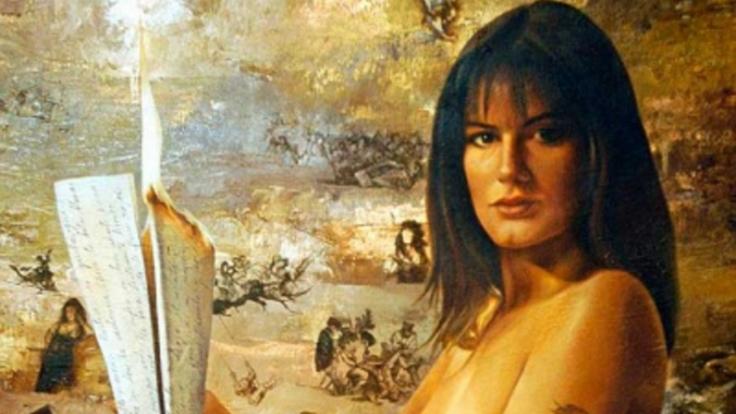 Gemälde «Die Nette» von Maler Waldo Saavedra mit dem Abbild von Königin Letizia. (Foto)