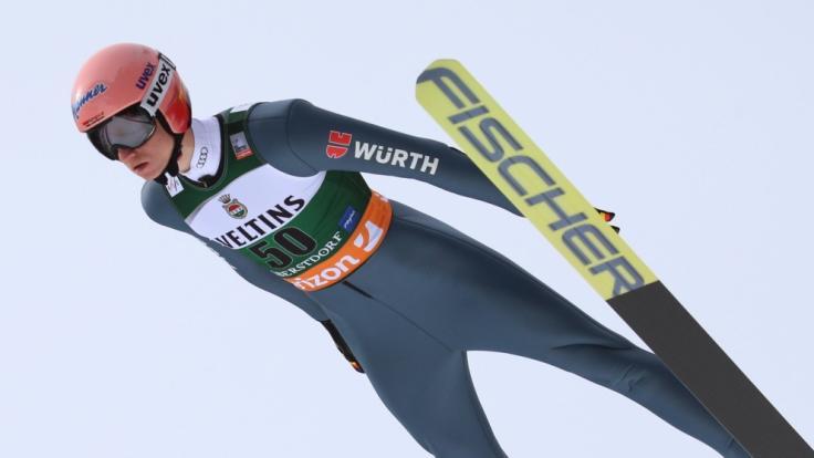 Karl Geiger aus Deutschland in Aktion.