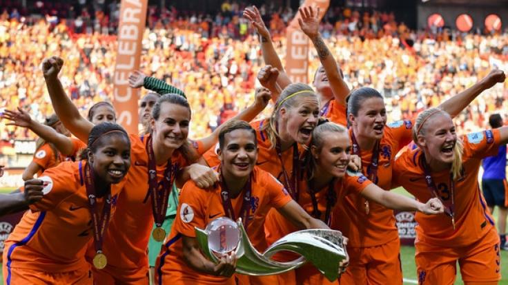Die Fußballerinnen aus den Niederlanden sind zum ersten Mal Europameister. (Foto)