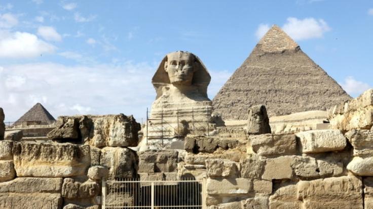 Ein Löwe mit Menschenkopf: Das ägyptische Mischwesen sthet symbolisch für die Frage nach der Grenze zwischen Mensch und Tier. (Foto)