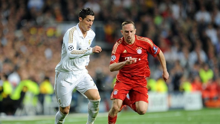 Weltfußballer gegen Europas Fußballer des Jahres: Cristiano Ronaldo gegen Franck Ribéry.