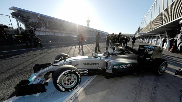 Großer Preis von Australien 2015: Zum Saisonauftakt der Formel 1 geht Mercedes als Favorit ins Rennen. (Foto)