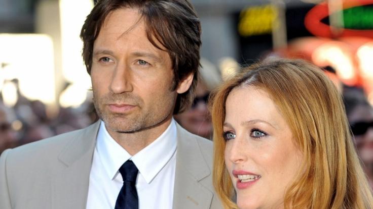 David Duchovny und Gillian Anderson bei der US-Filmpremiere es Films