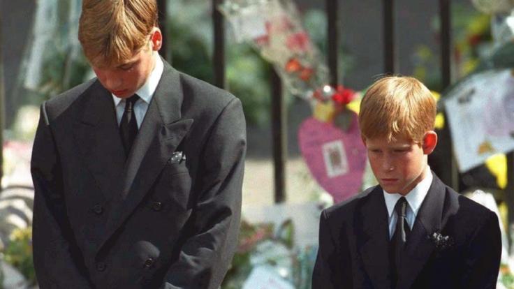 Prinz William und Prinz Harry waren erst 15 und 12 Jahre alt, als sie ihre Mutter Lady Di zu Grabe tragen mussten. (Foto)