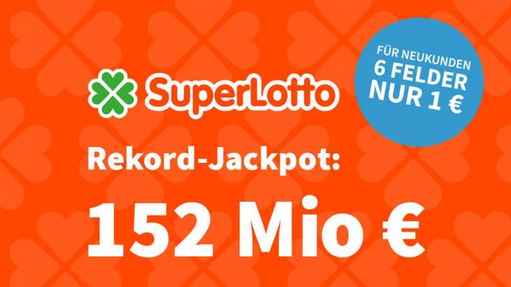 Bei dem italienischen Lottogiganten liegen am Samstag 152 Mio. € im Jackpot