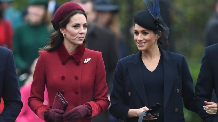 Gute Miene zum bösen Spiel? Der Zickenkrieg zwischen Kate Middleton und Meghan Markle soll weiter schwelen. (Foto)