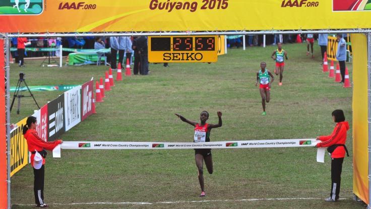 Die kenianische Langstreckenläuferin Agnes Jebet Tirop ist ermordet wurden - sie wurde nur 25 Jahre alt. (Foto)