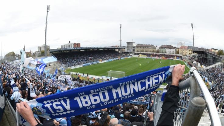Von den Rängen aus feuern die Fans vom TSV 1860 München ihr Team an. (Symbolbild) (Foto)