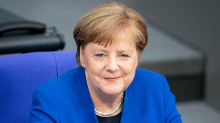 Bundeskanzlerin Angela Merkel (CDU) nahm an der Regierungsbefragung im Bundestag teil.