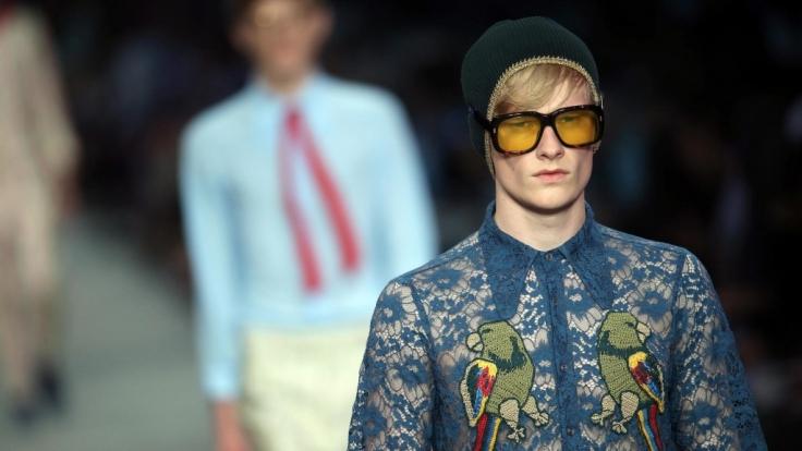 Beklöppelt: Gucci setzt auf Spitze. (Foto)
