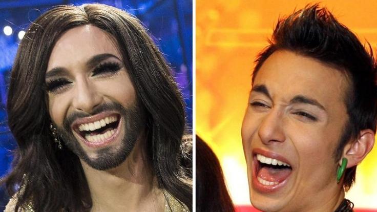 Vorher, nachher: Der österreichische Transvestit Conchita Wurst nach dem ESC-Triumph und als Tom Neuwirth (bürgerlicher Name) ohne Bart und mit kurzen Haaren.