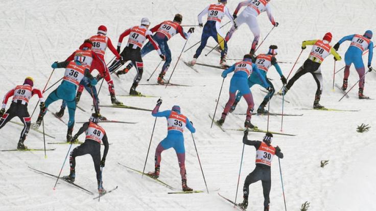 Die letzte Etappe bei der 11. Tour de Ski 2016/2017 wirft ihre Schatten voraus.