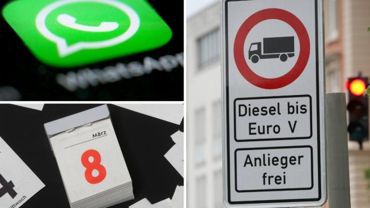Im Februar 2019 gibt es neue Gesetze zu WhatsApp, Diesel-Fahrverboten und Feiertagen im Bundesland Berlin.