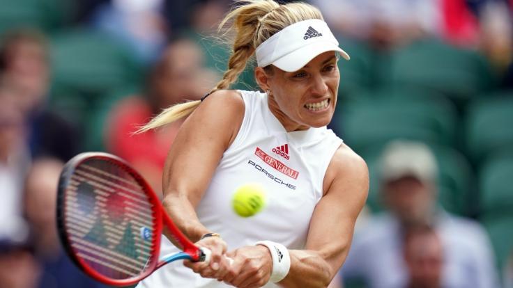 Angelique Kerber steht nach ihrem Zwei-Satz-Sieg gegen die US-Amerikanerin Cori Gauff im Viertelfinale von Wimbledon 2021. (Foto)