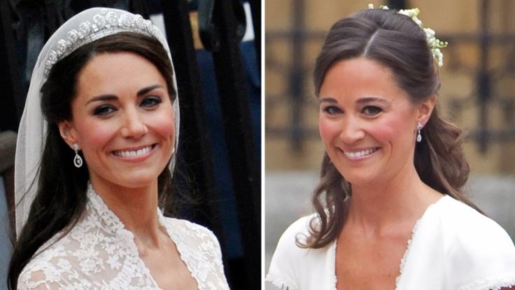 Die Middleton-Schwestern Kate und Pippa: Beide haben für ihren perfekten Hochzeitsbody ordentlich abgenommen. Aber ist das noch schön? (Foto)