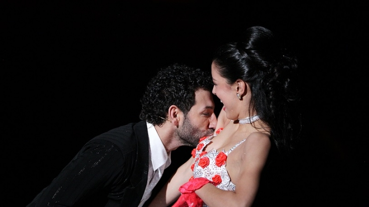 Model Rebecca Mir und Tänzer Massimo Sinató tanzten in der RTL-Tanzshow