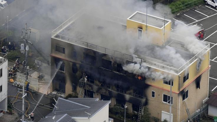 Ein Mann zündete das Gebäude der Animationsfirma KyoAni an.
