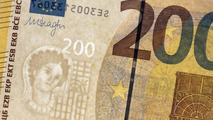 So sieht der 200-Euro-Schein aus. (Foto)
