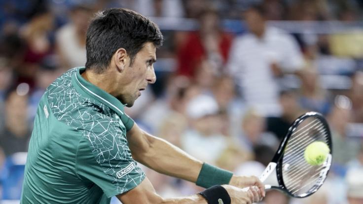 Novak Djokovic in Aktion. (Foto)