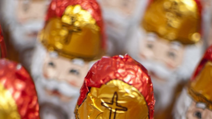 Der Verein Foodwatch schlägt Alarm: In Schokoladenweihnachtsmännern wurden gesundheitsgefährende Mineralöl-Rückstände gefunden. (Foto)